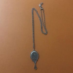 Long Necklace with a Mirror Pendant